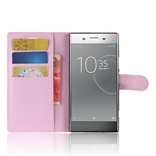 Funda Sony Xperia XZ1,Manyip Caja del teléfono del cuero,Protector de Pantalla de Slim Case Estilo Billetera con Ranuras para Tarjetas, Soporte Plegable, Cierre Magnético B