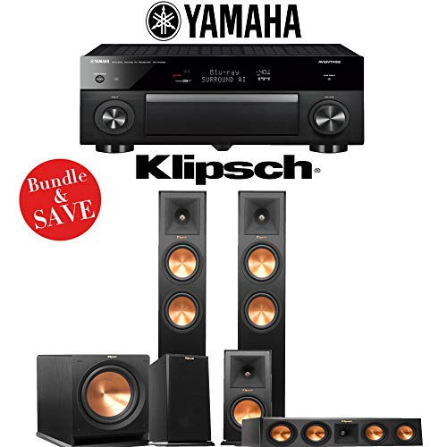 Klipsch RP-260F 5.1-Ch Reference Premiere Home Theater Speaker System with Yamaha AVENTAGE RX-A1080 7.2-Channel 4K Network A/V Receiver