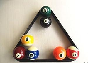 Schwarzes Dreieck für 15 Billardkugeln à 5,7cm, Kunststoff