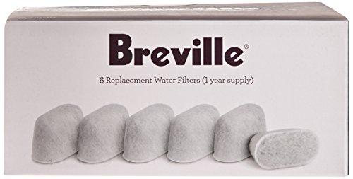 Breville BWF100 Single Cup Brewer Repuesto de filtros de carbón de leña blanco