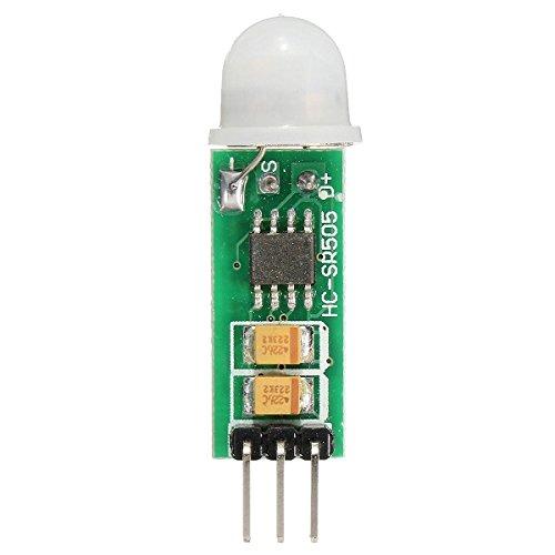 Ils - 5 Piezas HC-SR505 Mini Infrarrojos del Sensor de Movimiento PIR preciso Detector infrarrojo Módulo: Amazon.es: Electrónica