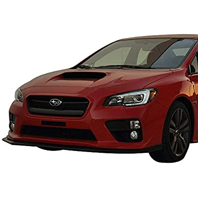 IKON MOTORSPORTS | Front Bumper Lip Compatible With 2015-2020 Subaru WRX STI | V-Limited Style Painted #H2Q HZ9 Venetian Red Pearl PP Polypropylene Air Chin Spoiler: Automotive