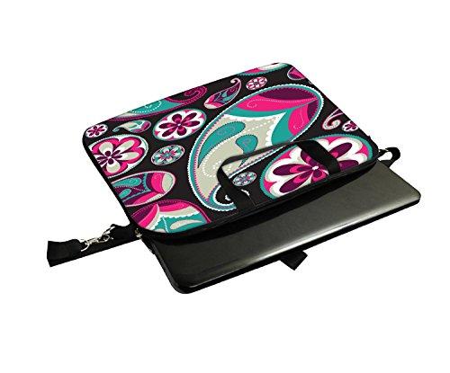 Snoogg Dark Abstraktes Muster 30,5cm 30,7cm 31,8cm Zoll Laptop Notebook Computer Schultertasche Messenger-Tasche Griff Tasche mit weichem Tragegriff abnehmbarer Schultergurt für Laptop Tablet PC Ul