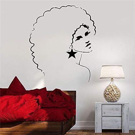 zzlfn3lv Chica de Vinilo Tatuajes de Pared Disco Girl Girl Afro ...
