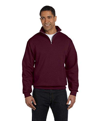 (Jerzees 8 Ounce 50/50 Cadet Collar Sweatshirt, XL, Maroon)