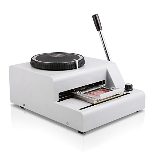 CNCShop Embosser Embossing Machine 72 Characters Manual for PVC Credit VIP ID Membership Gift Card
