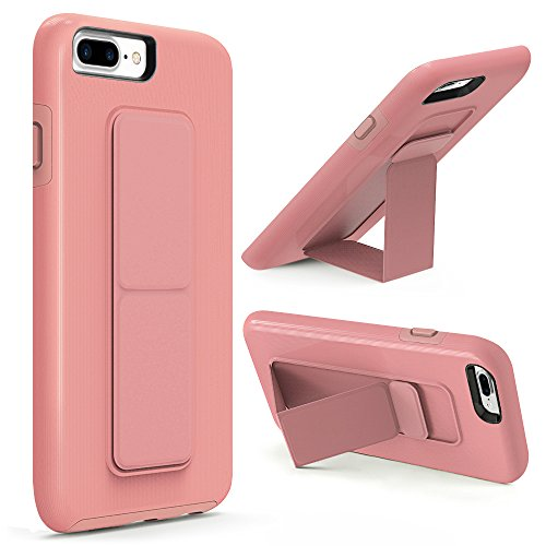 iPhone 8 Plus Case, iPhone 7 Plus Case, ZVEdeng Phone Strap Kickstand Vertical Horizontal Stand Dual Layer Protective Shockproof Cover Apple iPhone 7 Plus / 8 Plus 5.5 Rose Gold
