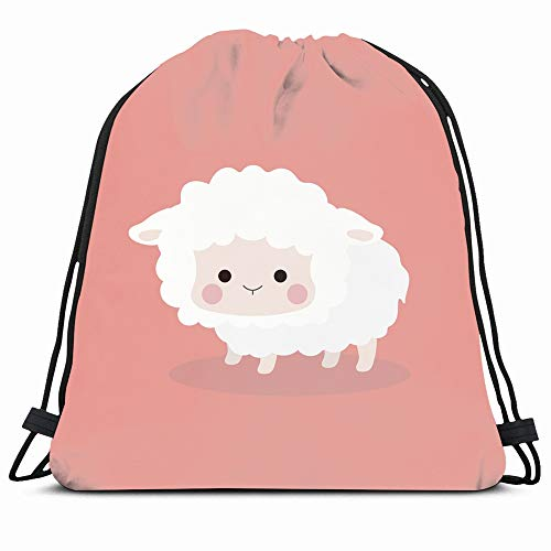 con Motivo a Pecora Scatola Porta fazzoletti in Stoffa Colore: Rosa Happy little sheep Wave Point