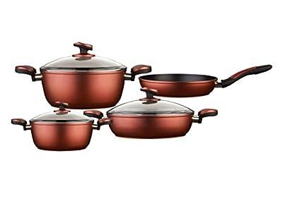 Cem Bialetti Titania Titanium Non Stick 7-Piece Cookware Set