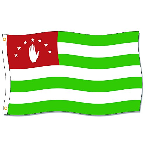 Abkhazia Flags 3X5FT 100% Polyester,Canvas Head with Metal Grommet by Home King