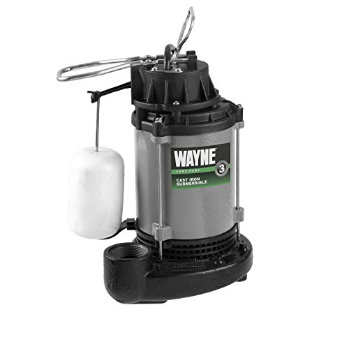 WAYNE CICDU800 1/2 HP Heavy Duty Cast Iron Submersible Sump Pump ()