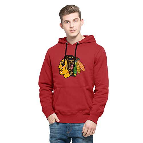 NHL Chicago Blackhawks Men's 47 Cross Check Printed Hoodie, Large, Rescue Red