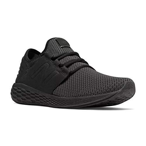 (New Balance Men's Cruz V2 Fresh Foam Running Shoe, black, 10 D US)