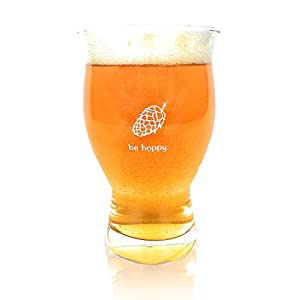 Ultimate Pint – Perfect Pint Glass to Explode Flavors and Maximize Beer Enjoyment – Exclusive Nucleated Hop Leaf Over 100 Points of Nucleation