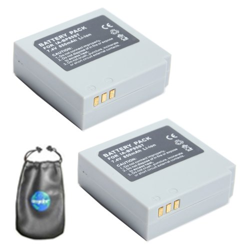 ValuePack (2 Count): Digital Replacement Camera and Camcorder Battery for Samsung IA-BP85ST, SC-MX10P - Includes Lens Pouch Amsahr B-BP85ST-2CT