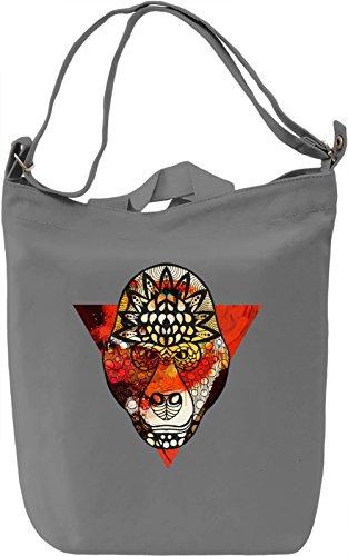 Fresh Monkey Borsa Giornaliera Canvas Canvas Day Bag| 100% Premium Cotton Canvas| DTG Printing|