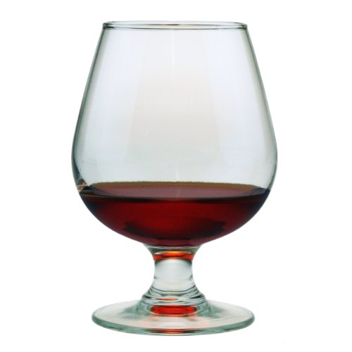 Susquehanna Glass Brandy Snifter Glasses, Set of 4, 12 ounces