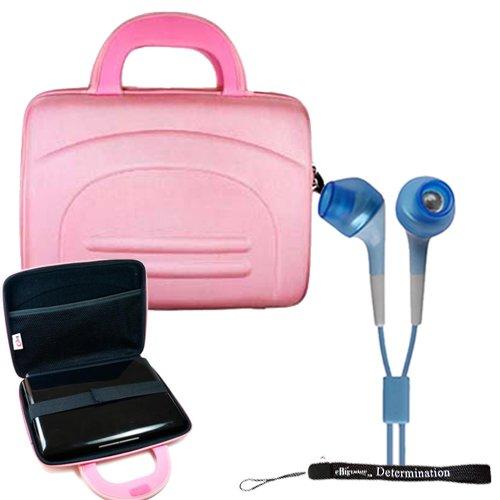 (eBigValue Sony DVPFX950 9-Inch Portable DVD Player Hard Nylon Traveling Case + Determination Hand Strap + Noise Cancelling Earphone In)