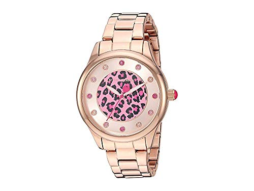 Betsey Johnson Women's Cheetah - 37242685RGD220 Rose Gold One Size (Betsey Johnson Watch Bracelet)