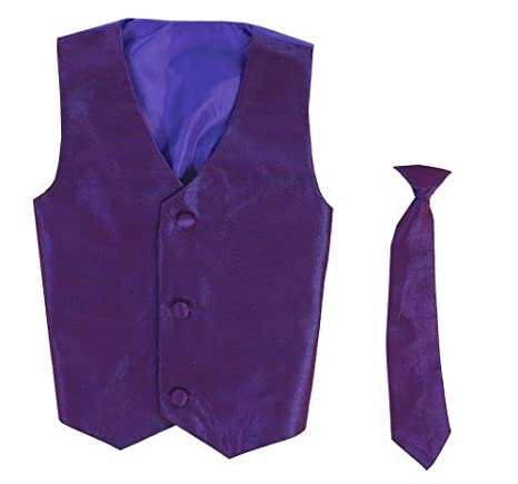 Chaleco y corbata Clip On Boy conjunto - PURPLE - 12.14 Color ...