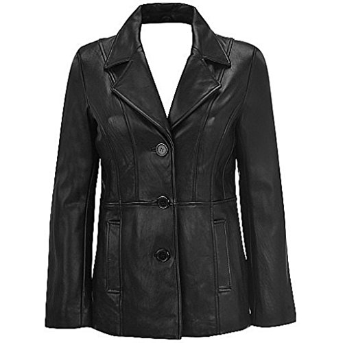 3 Button Leather Jacket - 3