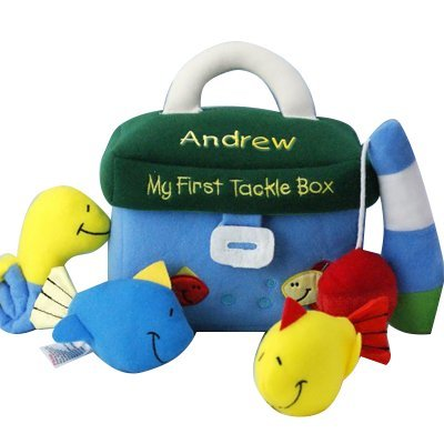 (GiftsForYouNow Embroidered My First Tackle Box Playset, 5 Piece Set, 7.5