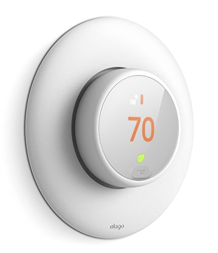 elago Wall Plate Cover for Nest Thermostat E [White] - [Complementary Rounded Design][Hard ABS Material][Easy Installation](E series only) by elago
