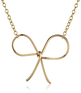 """By Boe """"Reminder Bow Necklace"""" 14k Gold Filled"""