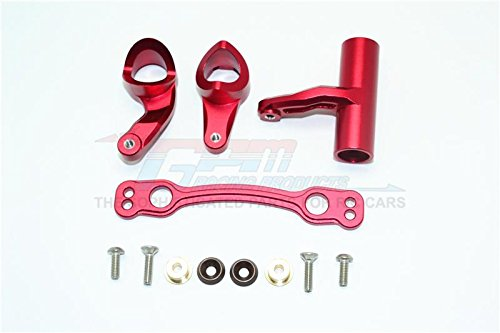 Arrma Kraton 6S BLX (AR106005/106015/106018) Upgrade Parts Aluminum Steering Assembly - 1 Set Red - Gpm Steering Assembly