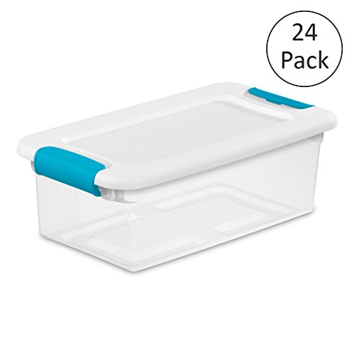 Loose Bolt - Sterilite 1492 6-Quart Clear Latching Stacking Storage Box, 24 Pack