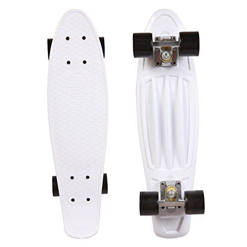 Black Standard Cruiser (ORKAN Mini Skateboard Cruiser Complete Skateboard (WHITE, 22))