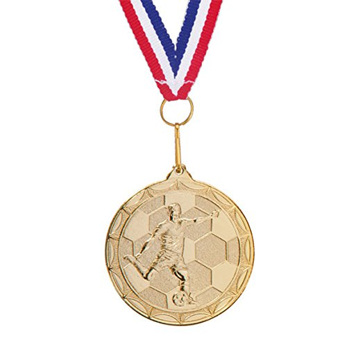 20 x Metal Gold Football Medals//Ribbons//MAN OF THE MATCH Trophy *FREE ENGRAVING*