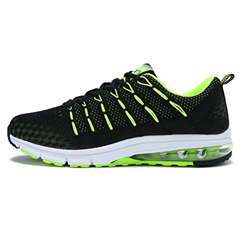 Running Shoes Sneakers for Men Mens Fashion Sports Outdoor Air Cushion Athletic Shoes Trainer Shoe Black Green