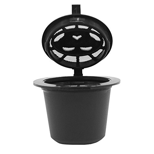 - Fan-Ling 1pc Refillable Reusable Coffee Machines Filter for Nespresso, Coffee Capsule Cup Universal Filter Replacements (Black)