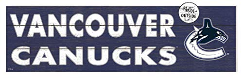 KH Sports Fan 35x10 in\Outdoor Sign Colored Logo Vancouver Canucks