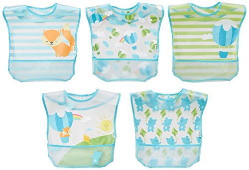 green sprouts Wipe off Bibs 5pk