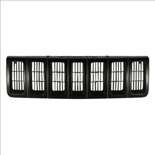 CarPartsDepot, SUV Front Black Outer Plastic Frame Grille Cross Bar Insert Style, 400-26628 CH1200193 5DN46SX8