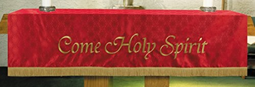 R.J Toomey Red Polyester Come Holy Spirit Embroidered Altar Frontal, 108 Inch by R.J. Toomey