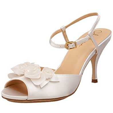 Cole Haan Women's Ceci Air Rose Sandal,White Satin,6.5 B US
