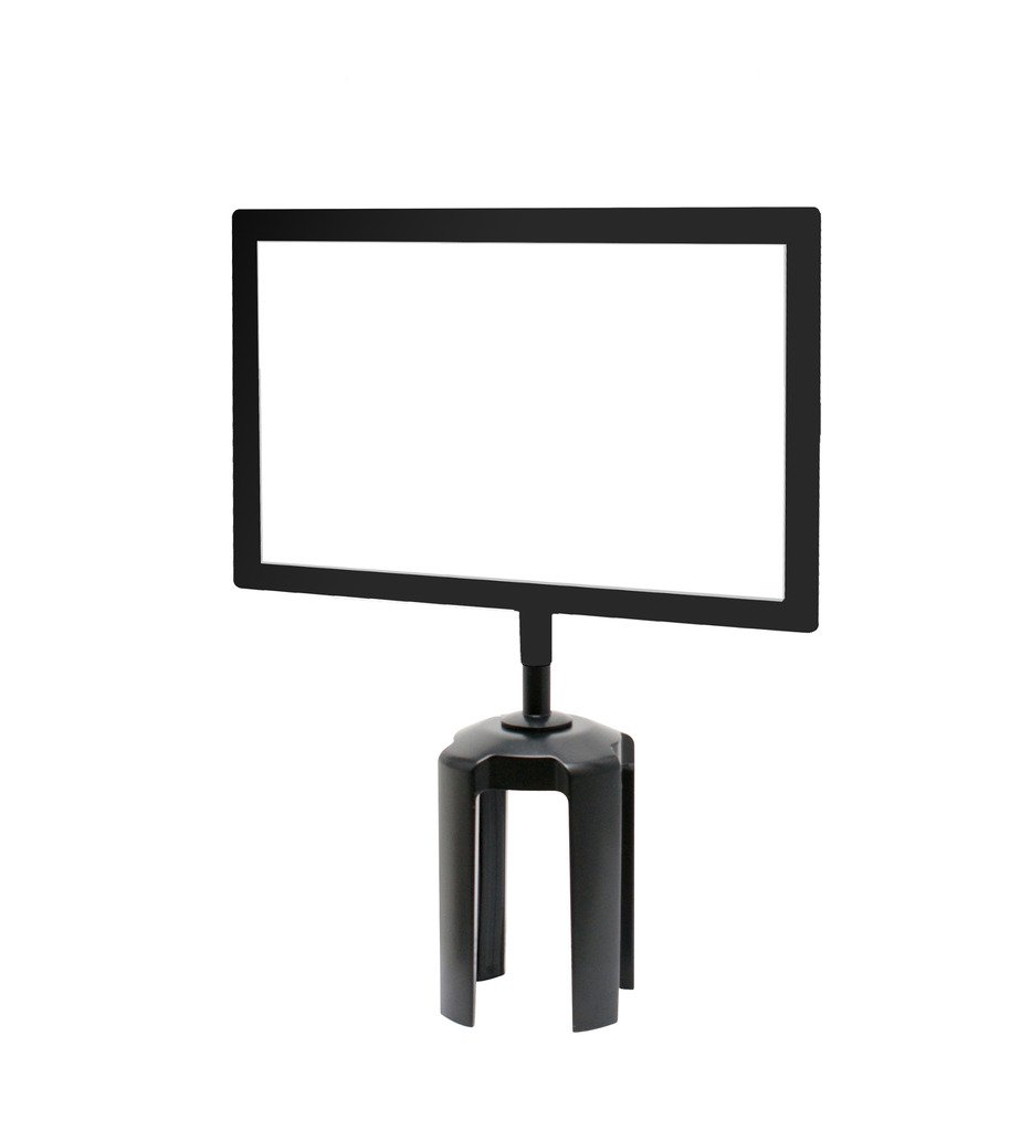 Tensabarrier FRAME-HDSC-33-8511HD-H Frame with Heavy Duty Horizontal Sign Cone, 8.5'' x 11'', Black