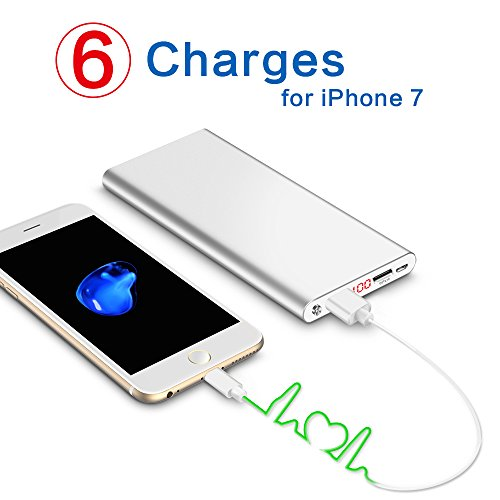 Polanfo 20000M Power Bank 12000mAh External Battery for Smartphone & Tablets(Silver)