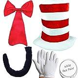 Child Cat in the Hat Fancy Dress - Full 5 piece set