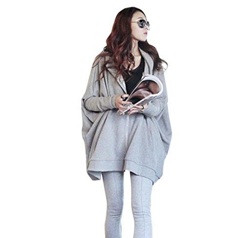 Tongshi Otoño Invierno Mujer manga larga ropa de abrigo informal de gran tamaño de la capa Tops