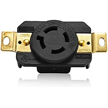 L14-20C 20 Amp 125//250 Volt 4 Wire Twistlock Connector Body