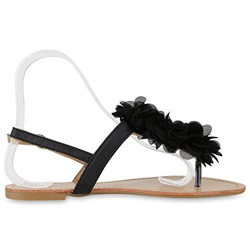 napoli-fashion - Chanclas Mujer Schwarz Nero