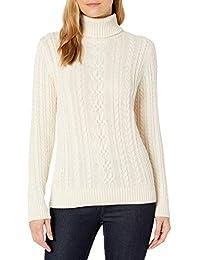 Women's Fisherman Cable Turtleneck Sweater