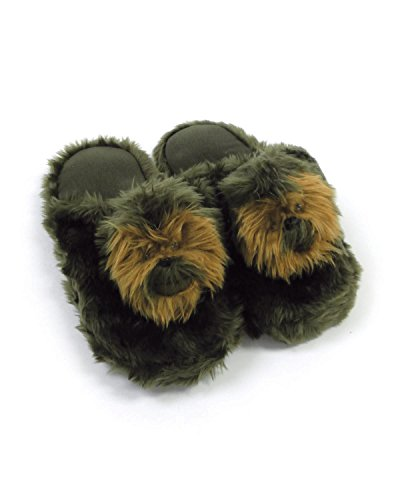 Star Wars Slippers (Comic Images Star Wars Chewbacca Plush Slippers, Large)