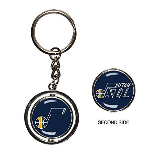 Keychain Nba Basketball (NBA Utah Jazz Spinner Key Ring)