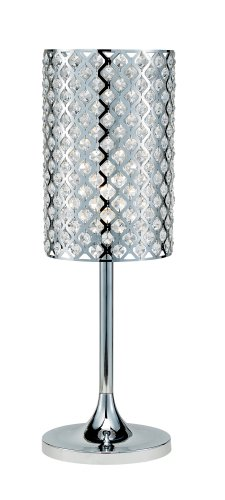 Adesso Glitz Table Lamp, Chrome - Reflects Chrome Table Lamp
