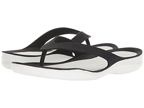 Crocs Womens Swiftwater Flip-flop Nero Bianco